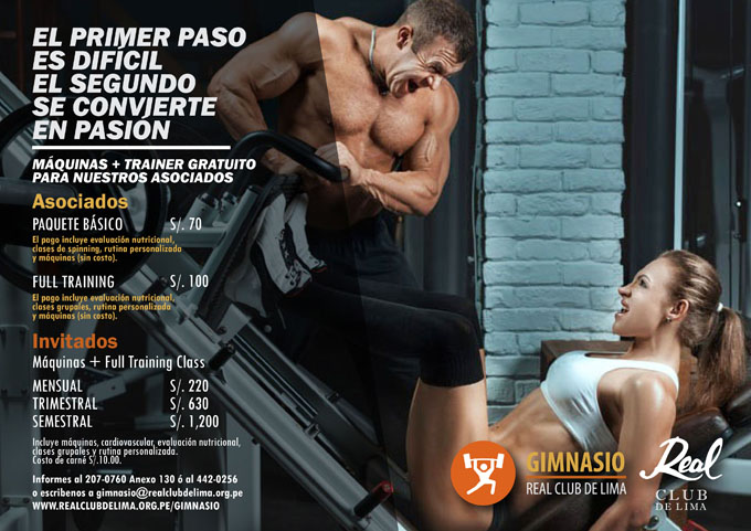Gimnasio cardio real club de lima for Gimnasio 7 am