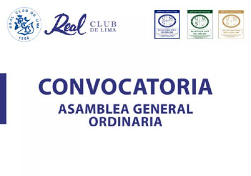 Convocatoria Asamblea General Ordinaria 17 de Enero 2019