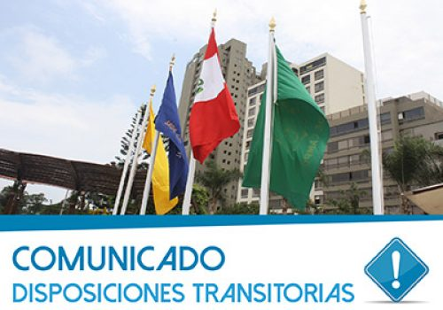 Comunicado: Disposiciones Transitorias