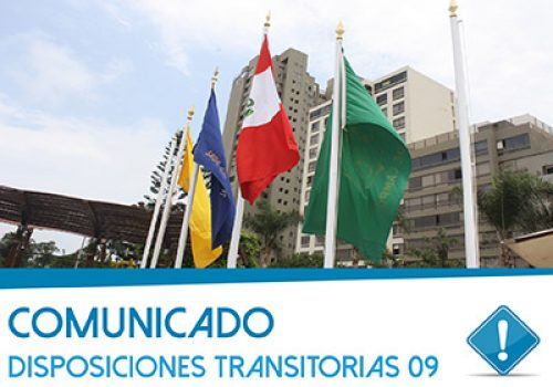 Comunicado: Disposiciones Transitorias 09