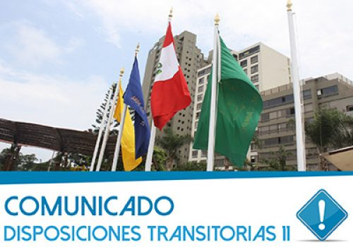 Comunicado: Disposiciones Transitorias 11